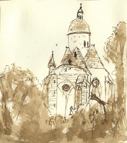Illustration collegiale Saint Quiriace Provins