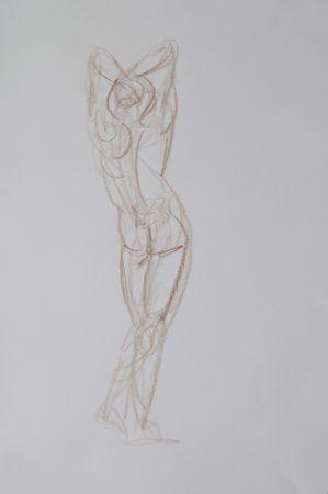 Esquisse homme rapide Christophe dessin au crayon