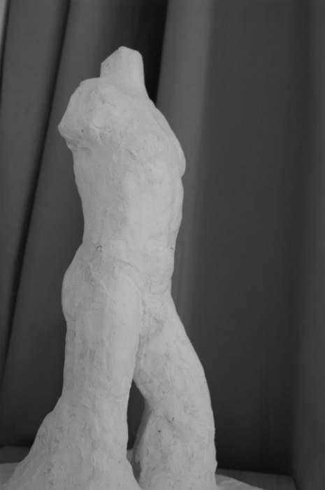 Sculpture buste en plâtre Fabien Lesbordes Paris 4
