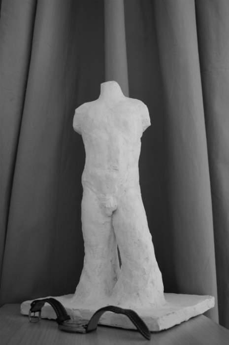 Sculpture buste en plâtre
