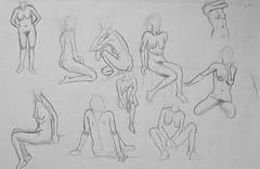 10 dessins de nu féminin avec brigitte