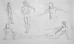 5 dessins avec Baladina de nu artistique