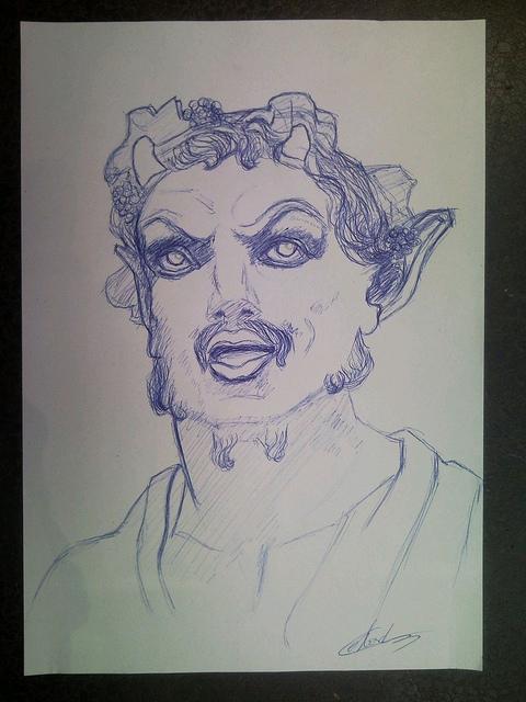 Cours de dessin sur Paris d'après statue technique dessin au stylo bic