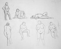 7 nus artistiques de grosse femme