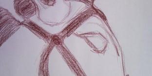 Ane dessiné au pastel gras