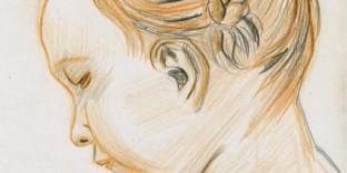 Fille nattes Saly portrait profil enfant