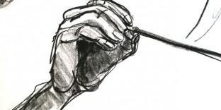 Dessin main baquette