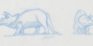 Apprendre dessiner dinosaure triceratops