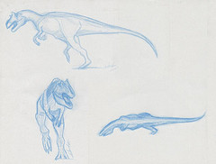 Dessin du dinosaure allosaure