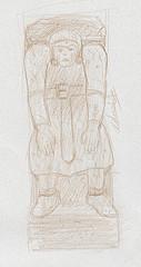Croquis statue italienne du XIII siècle