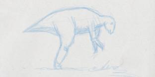 Croquis dinosaure Maiasaura