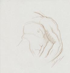 Croquis étude de torse et muscles du bras