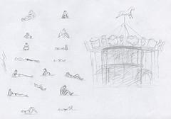 17 mini croquis de la plage d'arcachon