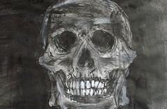 Peinture de crâne humain
