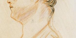 Portrait étude d'après Antoine Watteau par Fabien Lesbordes. Dessiné aux 3 crayons