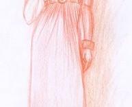 Tendance mode croquis robe et casquette pour femme © Fabien Lesbordes dessinateur