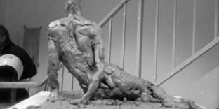 Sculpture éphèmère ronde-bosse modèle vivant 8
