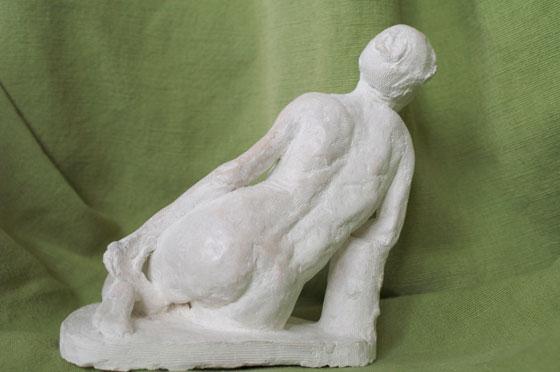 Sculpture statuette Rhoea Nymphe des grenadiers