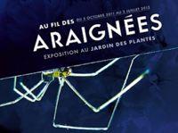 Affiche de l'exposition au fil des araignées à Paris