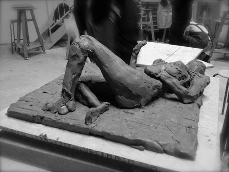 Sculpture modèle-vivant Regina 2