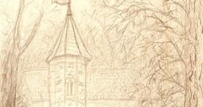 Composition La maisonnette à la Tourelle dessiné au Vésinet