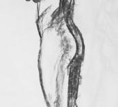 Une esquisse de nu dessinée au fusain