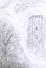 Esquisse composition personnelle La vieille tour