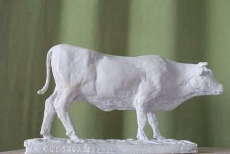 Sculpture animalière La vache Blonde d'Aquitaine © Fabien Lesbordes