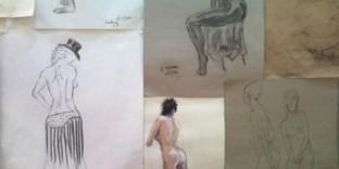 Aperçu de l'exposition nu artistique croquis femmes dénudées