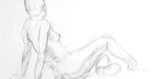 Nu artistique femme nue Gaëlle allongée