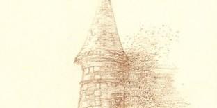 Dessin d'architecture tourelle du rempart château de Bagatelle