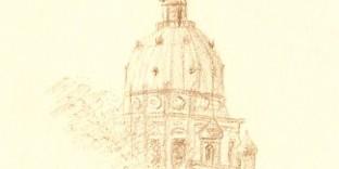 1 croquis dessin de paris église du Val-de-Grâce