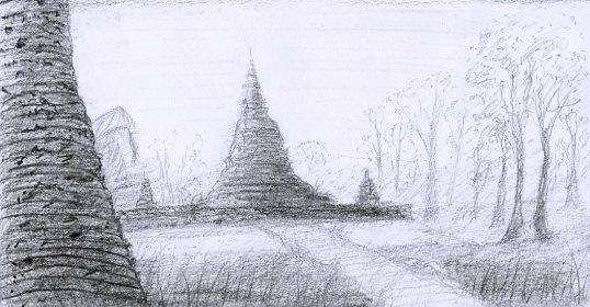 Temple chedi sukhothai thaïlande