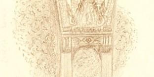 Temple thaïlandais dessiné korat