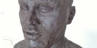 Buste en argile portrait sculpté en terre