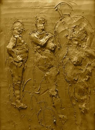 Bas-relief sculpture en terre