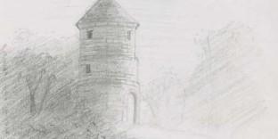 moulin montparnasse dessiné au crayon