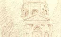 La sorbonne église dessin monument paris