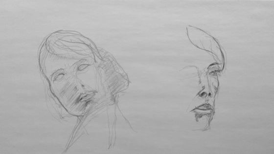 Portrait dessin à la mine de plomb