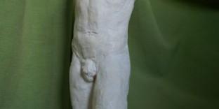 Statuette plâtre torse d'homme