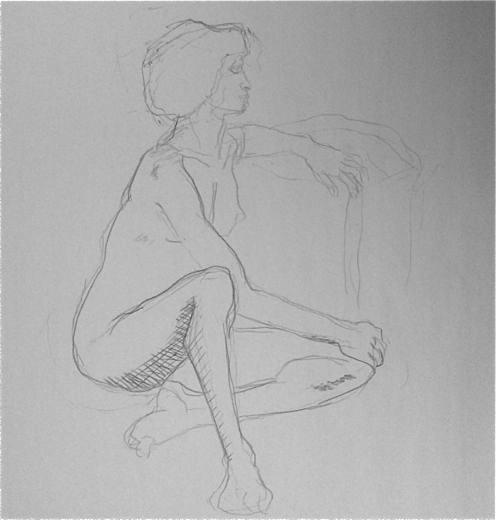 Africaine nue femme dessinée croquis