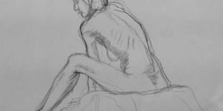 1 dessin femme assise