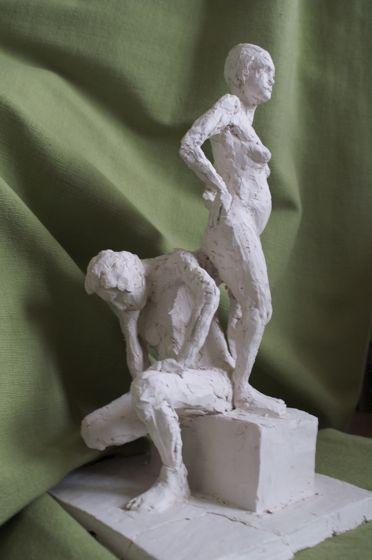 Statuette terracotta le couple