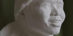 Ethnie Mong buste sculpture