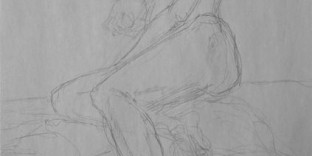Croquis femme nue allongée exemple dessiner vite