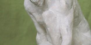 Visage Zeus terre patinée
