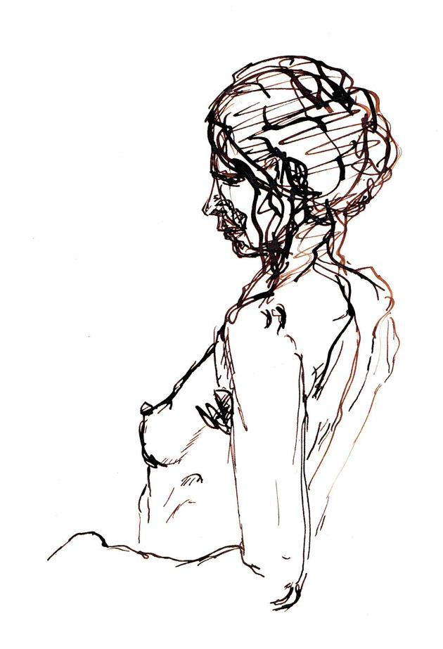 Femme sexy au sein