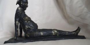 Statuette femme africaine enceinte