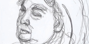 Portrait femme visage dessin mine